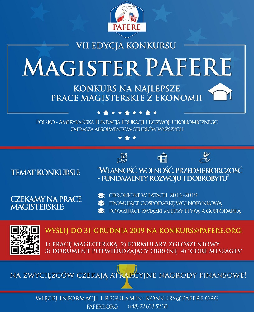magister pafere konkurs plakat2019